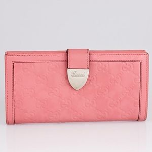 COMING SOON Gucci Guccissima Long Flap Pink Wallet